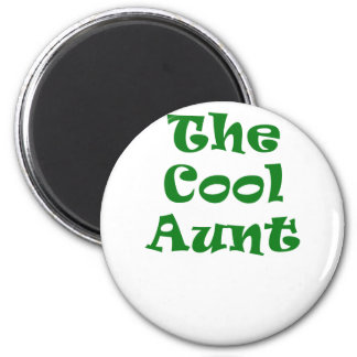 The Cool Auntie 6 Cm Round Magnet