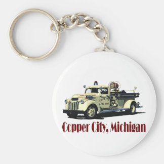 The Copper City Firetruck Keychain