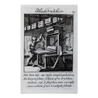 The Copper-plate Engraver, from 'Iets voor Poster