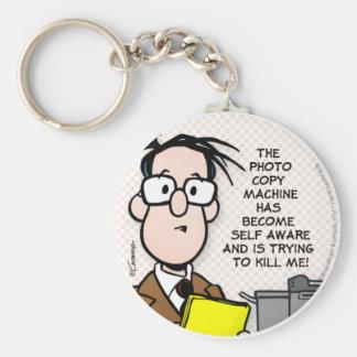 The Copy Machine Basic Round Button Key Ring