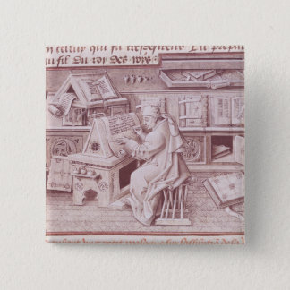 The copyist Jean Mielot 15 Cm Square Badge