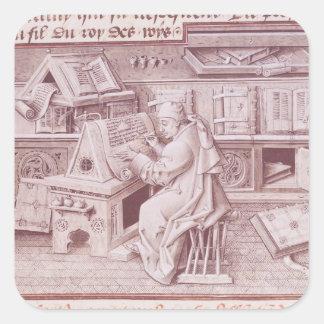 The copyist Jean Mielot Square Sticker