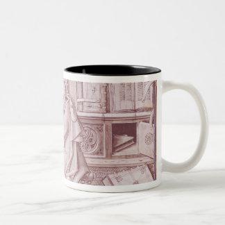 The copyist Jean Mielot Two-Tone Coffee Mug