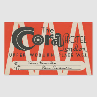 The Cora Hotel (London) Rectangular Sticker