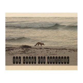 The Coral Fox Beach Pic Wood Wall Decor