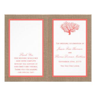 The Coral On Burlap Boho Beach Wedding Collection 21.5 Cm X 28 Cm Flyer