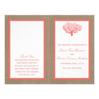 The Coral On Burlap Boho Beach Wedding Collection Flyer