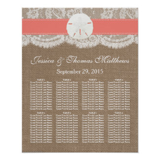 The Coral Sand Dollar Beach Wedding Collection Poster