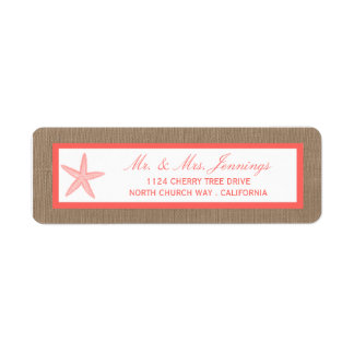The Coral Starfish Burlap Beach Wedding Collection