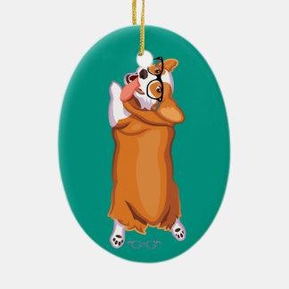 The Corgi Sploot Christmas Ornament
