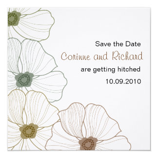 The Corinne Save the Date 13 Cm X 13 Cm Square Invitation Card