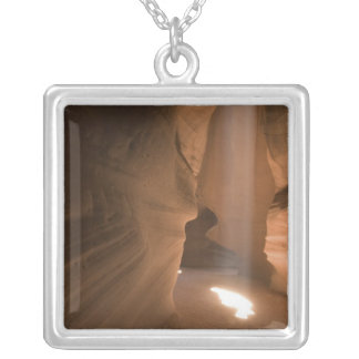 The Corkscrew in Upper Antelope Canyon, Navajo 2 Silver Plated Necklace