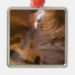 The Corkscrew in Upper Antelope Canyon, Navajo Silver-Colored Square Decoration