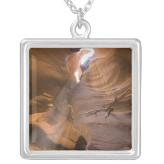 The Corkscrew in Upper Antelope Canyon, Navajo Silver Plated Necklace