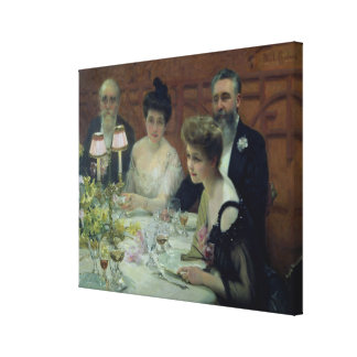 The Corner of the Table, 1904 Canvas Print