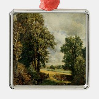 The Cornfield, 1826 Silver-Colored Square Decoration