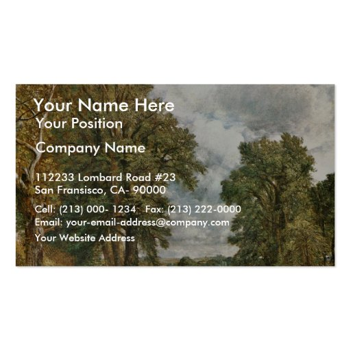 The Cornfield, The Cornfield By John Constable (Be Pack Of Standard Business Cards