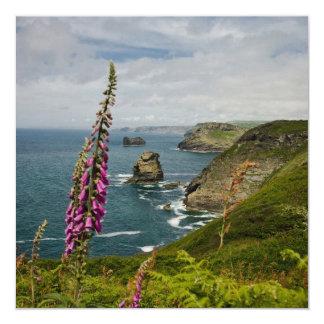 The Cornish Coast 13 Cm X 13 Cm Square Invitation Card