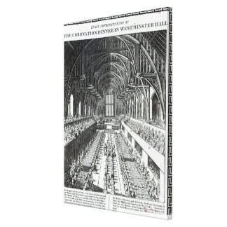 The Coronation Banquet in Westminster Hall Canvas Print