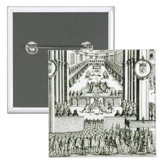 The Coronation of Charles I 15 Cm Square Badge