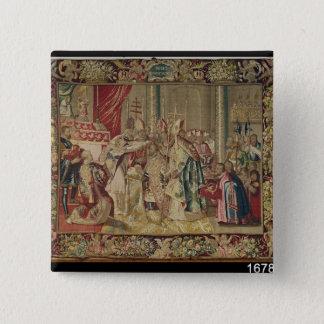 The Coronation of Charles V 15 Cm Square Badge