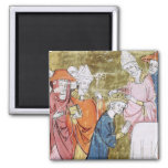 The Coronation of Emperor Charlemagne Square Magnet