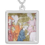 The Coronation of Emperor Charlemagne Square Pendant Necklace