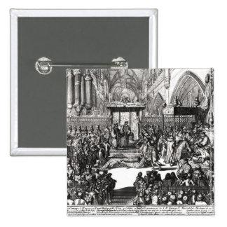The Coronation of King George I 15 Cm Square Badge