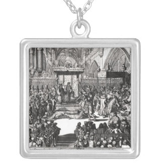 The Coronation of King George I Square Pendant Necklace