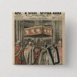 The Coronation of King George V 15 Cm Square Badge
