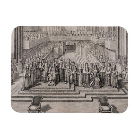 The Coronation of King James II (1633-1701) and hi Rectangular Photo Magnet