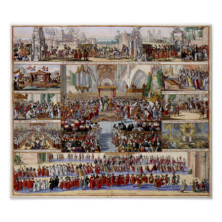 The Coronation of King William III and Queen Mary Poster