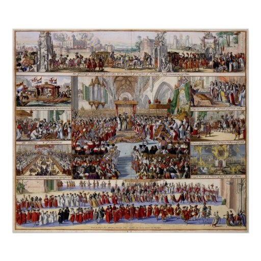 The Coronation of King William III and Queen Mary Posters