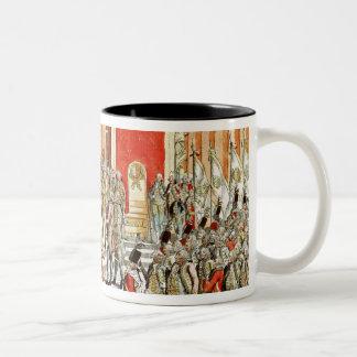 The Coronation of Leopold II  at Bratislava Two-Tone Coffee Mug