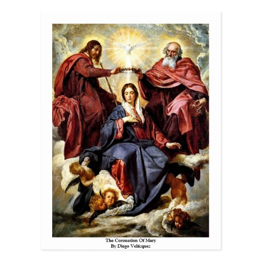 The Coronation Of Mary By Diego Velázquez Postcards