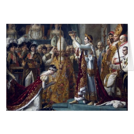 The Coronation Of Napoleon Jean Auguste Dominique Greeting Cards