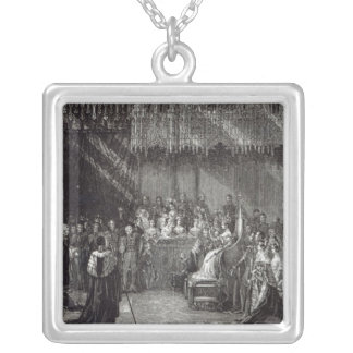 The Coronation of the Queen Silver Plated Necklace