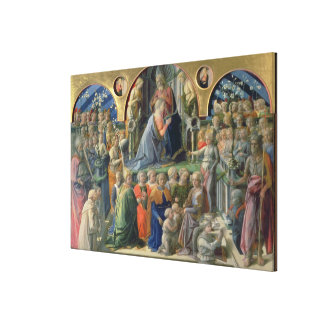 The Coronation of the Virgin, 1441-7 (tempera on p Canvas Prints