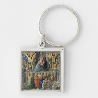The Coronation of the Virgin, 1441-7 (tempera on p Silver-Colored Square Key Ring