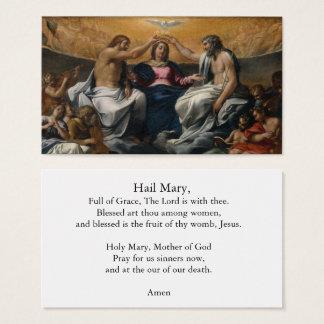 The Coronation of the Virgin Hail Mary Prayer Card