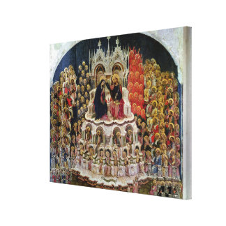 The Coronation of the Virgin in Paradise, 1438 Gallery Wrapped Canvas
