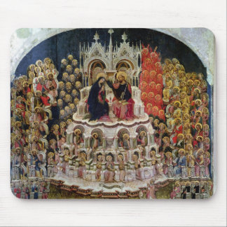 The Coronation of the Virgin in Paradise, 1438 Mouse Mat