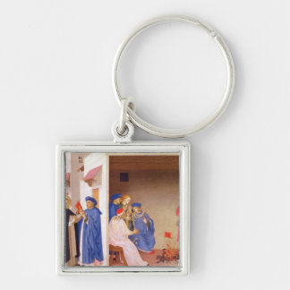 The Coronation of the Virgin Silver-Colored Square Key Ring