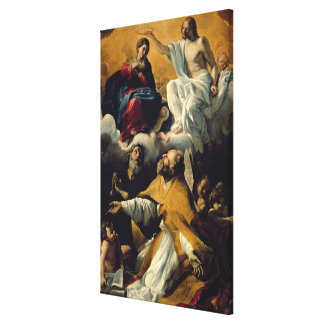 The Coronation of the Virgin with SS. William of A Stretched Canvas Print