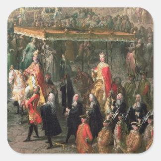 The coronation procession of Joseph II Square Sticker