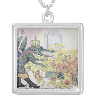 The Corsican Crocodile Silver Plated Necklace