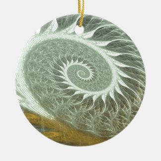 The Cosmic Spiral - Sacred Geometry Golden Spiral Christmas Ornament