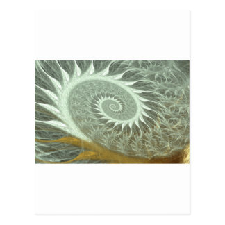 The Cosmic Spiral - Sacred Geometry Golden Spiral Postcard