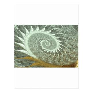 The Cosmic Spiral - Sacred Geometry Golden Spiral Postcard