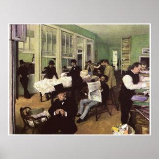 The Cotton Market in New Orleans, Edgar Degas Print